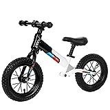 Bicicleta sin pedales Bici Sport Balance Bike - Boys First Bike, 2/3/4/5/6 años de Edad, Regalo de cumpleaños para niños, Negro/Blanco