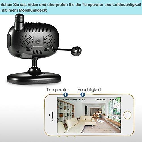 Wansview 1080P Wlan WiFi Wireless IP Sicherheits kamera mit Temperatur-und Feuchtigkeitssensor K1 - 3