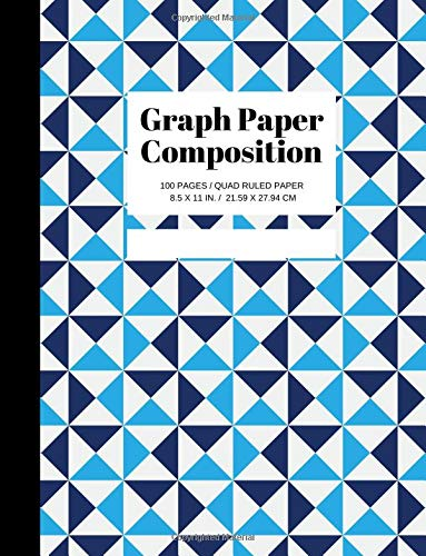 Graph Paper Composition: Grid Paper Notebook, Quad Ruled, 100 Sheets Graph Paper (Large, 8.5 x 11) por Joyful Journals
