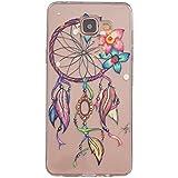 Galaxy A5 (2016) Coque , YIGA Transparent Bling Noir Dreamcatcher Fleur Silicone Doux TPU Case Cover Housse Etui pour Samsung Galaxy A5 (2016) A510 A5100