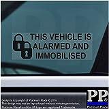 5x Alarma y inmovilizador Fitted stickers-black-padlock design-alarmed y inmovilizado advertencia de seguridad ventana signs-car, Van, Camión, Caravana, Autocaravana, camión, Taxi, automóvil