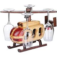 BEIQI botellero de Vino helicóptero Europeo Creative Swing de Madera Nel Vino para Montaje en Rack