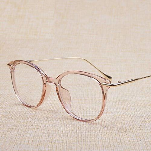 FANGUGF Flache Gläser Transparente Gläser Weiblicher Rahmen Optische Korrekturlinse Klare, Schlichte Linse Weiblich