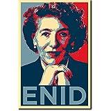 """Enid Blyton (lámina basada en el diseño """"hope"""" de Obama) Afiche para regalo impreso en papel de fotografía con brillo 30x20 cm Poster / póster"""