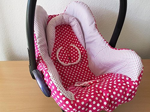 Atelier MiaMia Kindersitz Bezug, Babysitzbezug, Babyschale Bezug Neu für Maxi Cosi City, Pepple, Cabrio Fix, Priori, Pearl, Safety One, Hauck Zero, Recaro Privia, Römer King, Baby Safe, Cybex Anton,