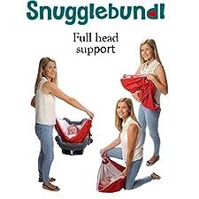 Snugglebundl- The Baby Wrap with handles. (Poppy Red)