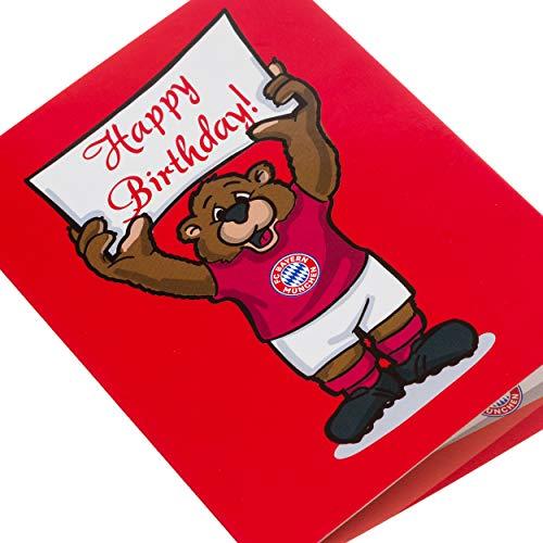 10er-Set Einladungskarte Berni FC Bayern MÜNCHEN FCB + gratis Sticker München Forever, Karte, Geschenkkarte, Glückwunschkarte