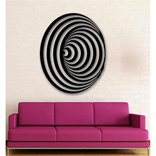 jiushizq Neue Wandaufkleber Vinyl Aufkleber Modernes Dekor Abstrakt Stil Symbol Illusion Rosa 84x133cm
