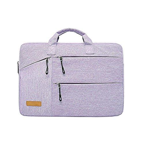 Jia HU 1großes Fassungsvermögen Laptop Aktentasche Messenger Tasche Portfolio Tote Notebook Tablet Tasche Büro College violett