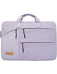 Jia Hu - Maletín de gran capacidad para ordenador portátil, bolso de bandolera, cartera para tableta, oficina,…