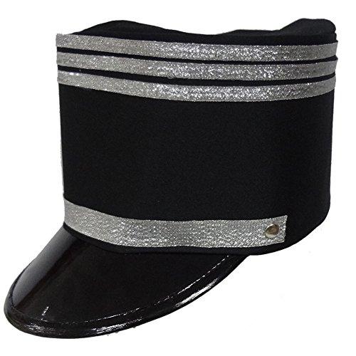 Dress Up America Schwarzer Blaskapelle Hut für Erwachsene (Trim Fedora)