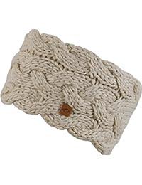 Strick-Kopfband mit Fleece innen für Damen - warmes Stirnband Haarband