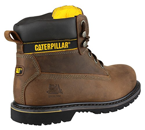 Di Marrone Umano Sicurezza Caterpillar marrone Stivali Holton 7qFwZnWES