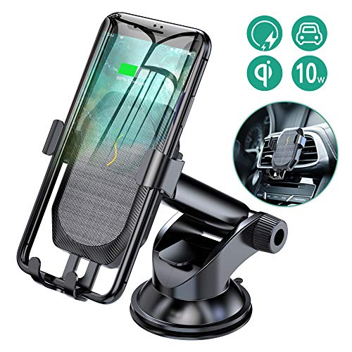 SONRU Wireless Charger Auto, QI Autohalterung KFZ Induktions Ladegerät 10W Schnellladung mit Handy Halterung für iPhone Max XS iPhone X iPhone 8/8 Plus, Samsung Galaxy S9/S9+/S8 plus/S7/Note 8