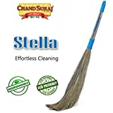 Chand Suraj Stella Eco Friendly Soft Grass Floor Broom Stick For Floor Cleaning (Phool Jhadu / Mop)