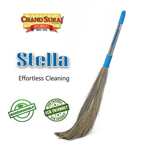 Chand Suraj Stella Eco Friendly Soft Grass Floor Broom Stick For Floor Cleaning (Phool Jhadu / Mop)
