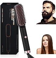 BIKUUL Upgrade Hair Straightener Brush for Women & Men, Fast Heat Up Ionic Hair Straightening Comb, 3 Temp