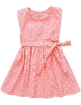 Brightup Cotone e lino Abito Vest bambino principessa abito 1-6 anni ragazzi ragazza estate abiti, stampa A-line...
