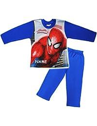 alles-meine.de GmbH 2 TLG. Set _ Schlafanzug / Hausanzug / Pyjama -  Spider-Man  - Größe 2 bis 6 Jahre - Gr. 92 bis 128 - Langer Trainingsanzug / Sportanzug langärmelig - 100 %..