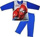 alles-meine.de GmbH 2 TLG. Set _ Schlafanzug / Hausanzug / Pyjama -  Spider-Man  - incl. Name - Größe: 5 - 6 Jahre - Gr. 122 - 128 - Langer Trainingsanzug / Sportanzug langärme..