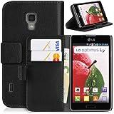 DONZO Wallet Structure Tasche für LG Optimus L7 II P710 Schwarz