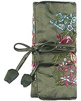 VENI MASEE® Embroidered Jewelry Bag, Silk Brocade Fabric Jewelry Roll, Price/Piece