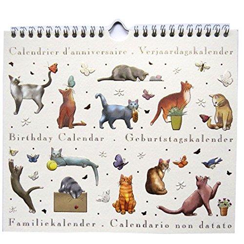 Designer Boutiquen (Geburtstagskalender, Katzen, Größe 225mm x 195mm, von Quire)