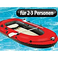 Speeron Rubber Boat:4 Chamber Inflatable Dinghy with Pump & Paddle for 2-3 People
