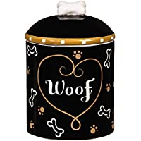 Love and Milk Bones Ceramic Dog Treat Jar by Cypress
