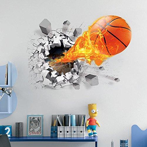 Basketball Wandtattoo Wandaufkleber Tattoo 50 x 70 cm *NEU*OVP*