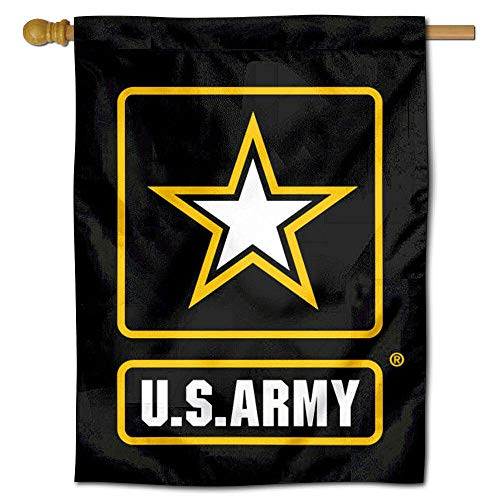 College Flags and Banners Co. Armee Black Knights Star Doppelseitige Hausflagge -