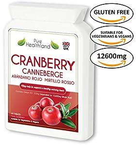 Poderoso suplemento concentrado purificado de arándano rojo 50: 1 - Equivalente a 12.600 mg de arándanos frescos en una sola dosis!!  Si necesita el espectro completo de fitonutrientes de los arándanos, ¿no debería utilizar los suplementos más puros ...