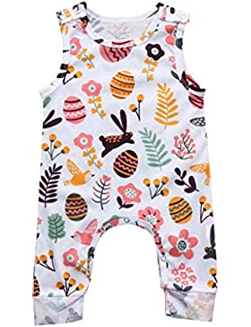 Baby Kleidung Set,Traumzimmer Neugeborene Die Jungen MäDchen Ostereier Print - Strampler Overall Outfits Jumpsuit