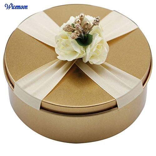 wicemoon Candy Box Hochzeit Dekoration Creative Metall Geschenk Box Candy Halter Candy Gläser, 2#, 7.5*4.5cm