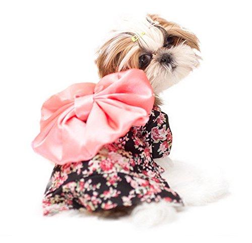 Hunde Kostüm Halloween Floral Pet Puppy Spring Coat Jacke Band Elegante Chihuahua Apparel Kleidung (Scooby-halloween-kostüme)