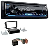 caraudio24 JVC KD-X151 1DIN USB Aux MP3 Autoradio für Mercedes C-Klasse CLK Vito Viano