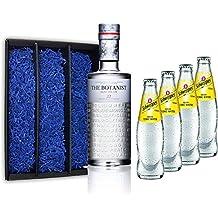 Gin Tonic Geschenkset - The Botanist Islay Dry Gin 70cl (46% Vol) + 4x Schweppes Tonic Water 200ml + Geschenkverpackung