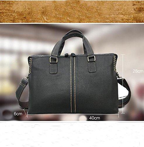 L'uomo Classico Il Modo Strutturato Conciso Nero Pacchetto Handcarry Business Bag Black