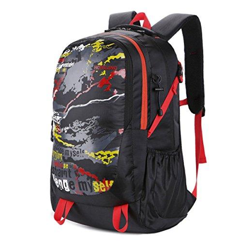 Lässig Große Kapazität Bergsteigen Tasche Mit Luft Suspension System 40L Red