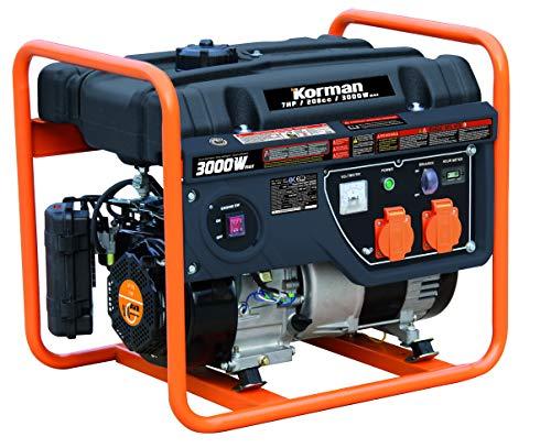 Korman - Grupo electrógeno Gasolina 3000W - 7CV Ref:214116
