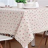 Tablecloth Clothes UK- Tischdecke Baumwolle Leinen Rechteck Spitze Rand Tischdecke Für Küche Esstisch Tischdekoration Sommer & Outdoor Picknicks Tischdecke (Farbe : C, größe : 90x150cm)