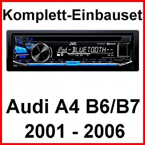 Komplett-Set Audi A4 B6 B7 JVC KD-R871BT Autoradio USB MP3