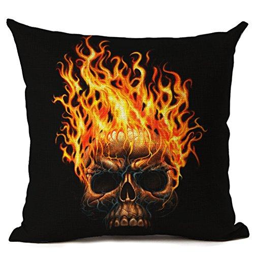 huifengs Halloween Kissen Fall Hexe Totenkopf Kürbis pillowslip für Home Office Dekoration 45,7x 45,7cm (L), Leinen, M, Einheitsgröße
