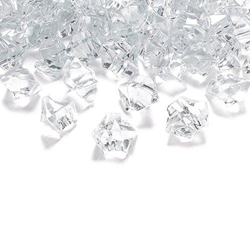 50 Kristall-Steine Farblos/Klar 25 mm - Eis Deko Streudeko Diamanten Tischdeko
