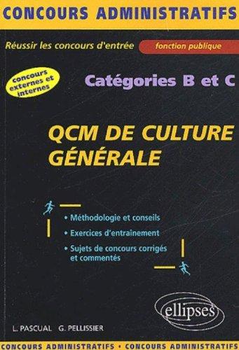 QCM de Culture générale : Catégories B et C
