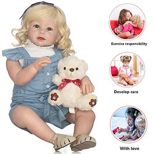 RENYAYA 70cm handgemachte Lifelike Doll Full Body Silikon Baby Doll Toys für Mädchen Realist Vinyl Toddler Reborn Puppe Birthday Geschenke-Requisiten -