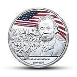 Moneda Conmemorativa de la Moneda Conmemorativa de Angelliu Abraham Lincoln chapada en Oro