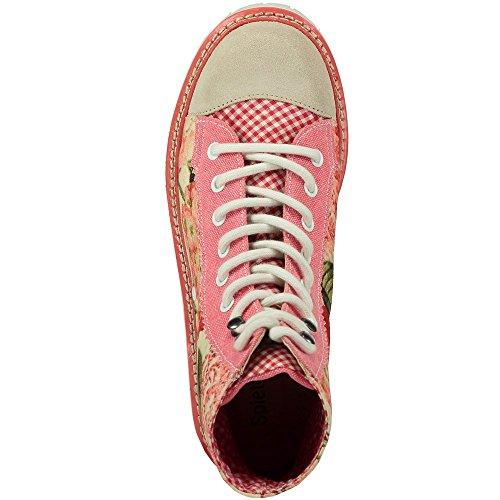 Spieth & Wensky  Jennifer koralle, Chaussures à lacets femme Rouge - Koralle
