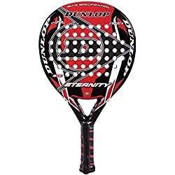Dunlop Eternity - Pala de pádel, color negro / rojo / blanco, 38 mm