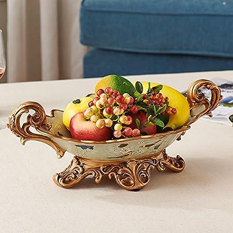 qwer American resina idilliaco grandi frutta ornamenti